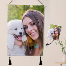 Load image into Gallery viewer, Personalized Photo Tapestry - Wall Decor Hanging Fabric Painting Hanger Frame Poster