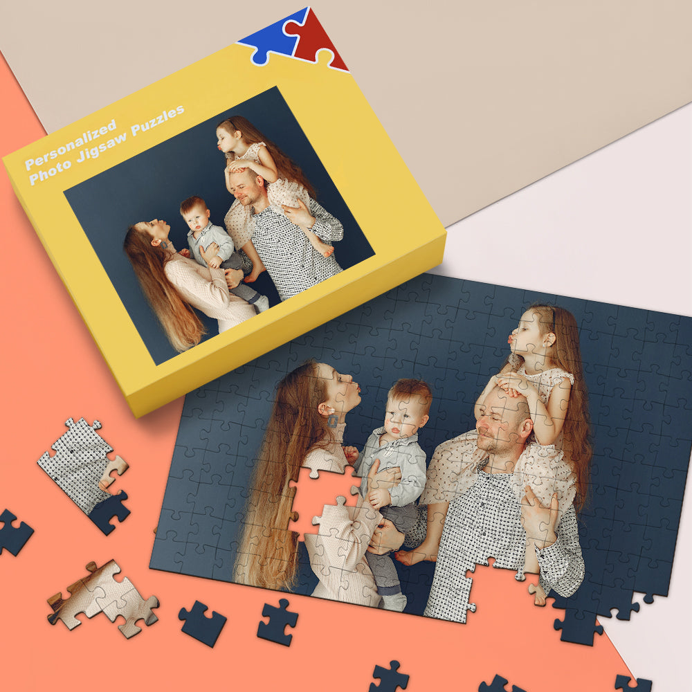 Custom Photo Jigsaw Puzzle - 35-1000 pieces Puzzles for Adults, Gifts for Dad