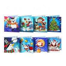 Load image into Gallery viewer, 5D Diamond Painting Gift Christmas Greeting Cards(8 Pieces)