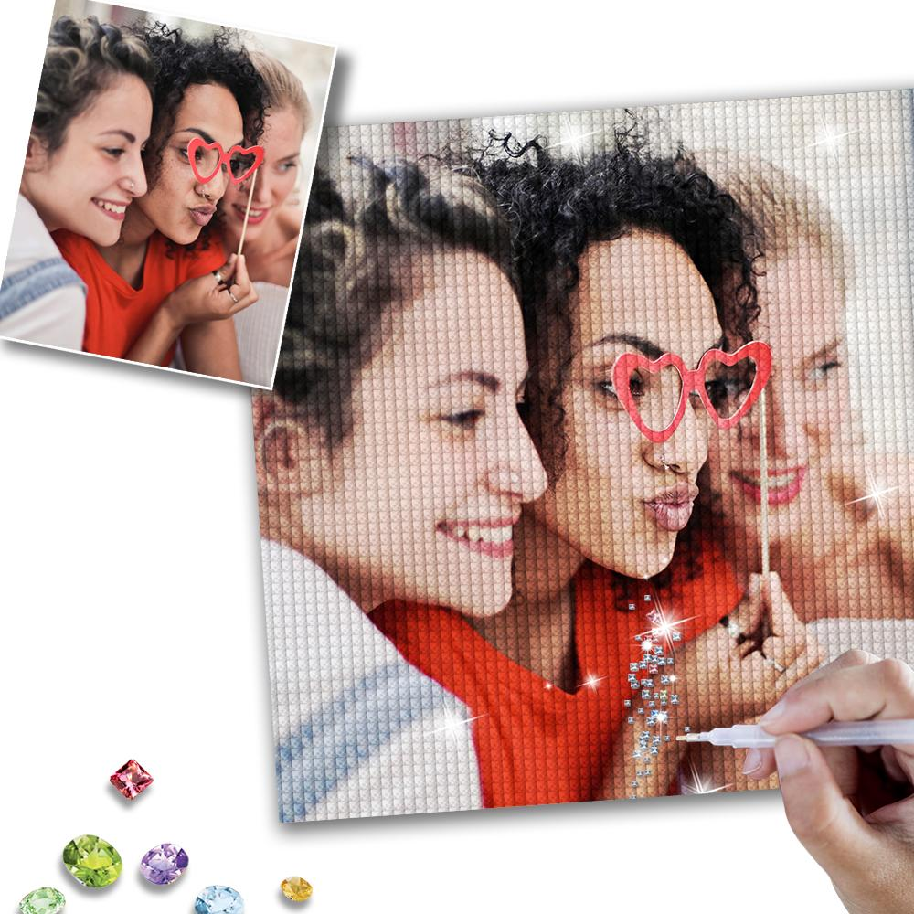 DIY Custom Best Friends Photo Couple Diamond Painting