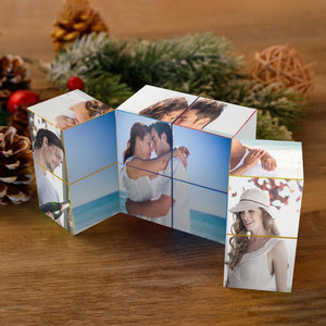 Custom DIY Infinity Photo cube Folding Photo Cube Folding Picture Cube DIY Personalized Gifts