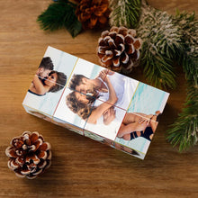 Load image into Gallery viewer, Custom DIY Infinity Photo cube Folding Photo Cube Folding Picture Cube DIY Personalized Gifts