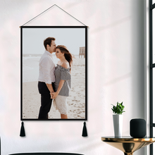 Load image into Gallery viewer, Custom Couple Photo Tapestry - Wall Decor Hanging Fabric Painting Hanger Frame Poster