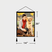 Load image into Gallery viewer, Custom Pet Photo Tapestry - Wall Decor Hanging Fabric Painting Hanger Frame Poster