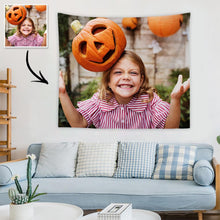 Load image into Gallery viewer, Halloween Sale Custom Child Photo Tapestry Short Plush Wall Decor Hanging Painting Gift