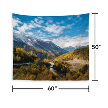 Load image into Gallery viewer, Custom Scenery Photo Tapestry Short Plush Wall Decor Hanging Painting