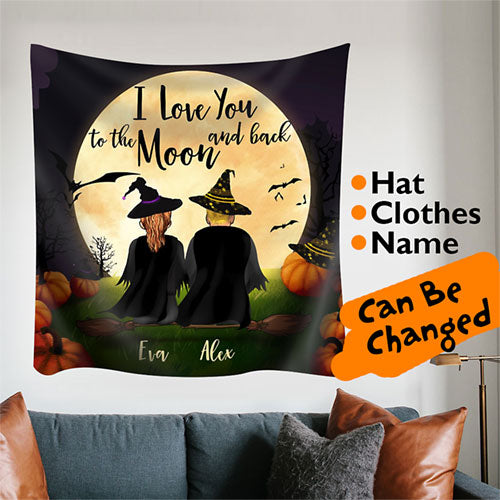 Halloween Personalized Family and Friends Tapestry