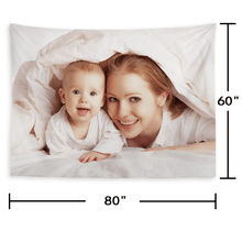 Load image into Gallery viewer, Custom Baby Photo Tapestry Short Plush Wall Decor Hanging Painting