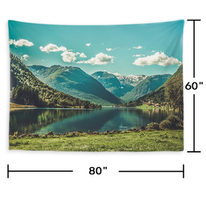 Custom Scenery Photo Tapestry Short Plush Wall Decor Hanging Painting