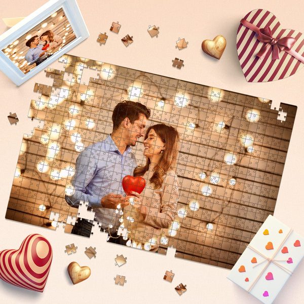 Custom Couple Photo Jigsaw Puzzle - 35-1000 pieces Puzzles Valentine's Day Gift