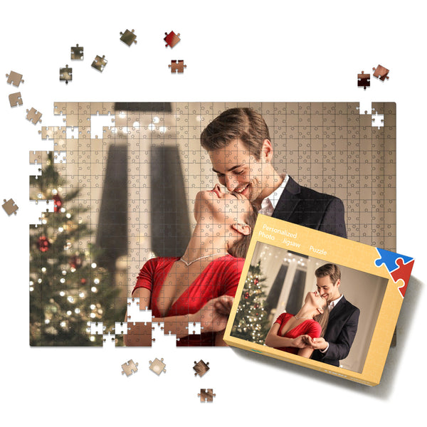Custom Couple Photo Jigsaw Puzzle - 35-1000 pieces Puzzles Valentine's Day Gift for Her