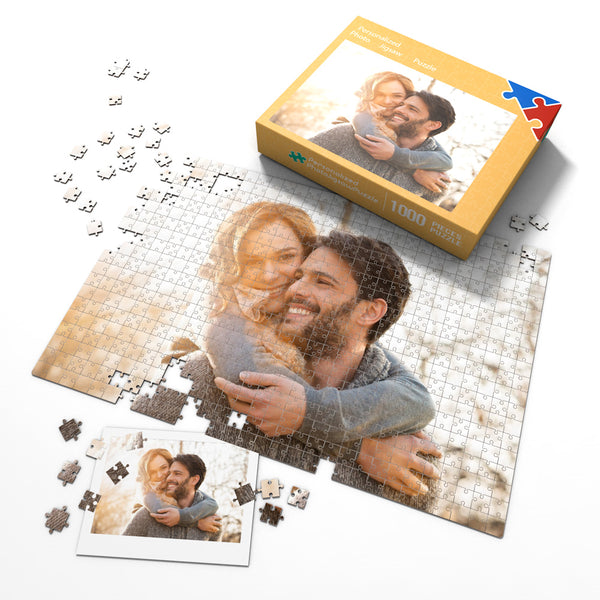 Custom Couple Photo Jigsaw Puzzle - 35-1000 pieces Puzzles Valentine's Day Gift for Him
