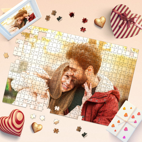 Custom Couple Photo Jigsaw Puzzle Personalized 35-1000 Pieces Puzzles Valentine's Day Gift