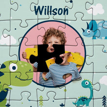Load image into Gallery viewer, Personalized Photo Jigsaw Puzzle Cartoon Dinosaur - 35-500 pieces