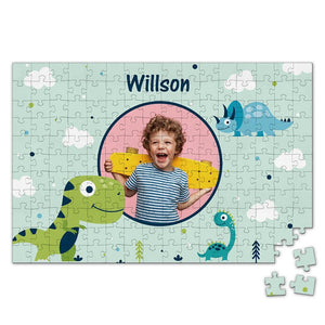 Personalized Photo Jigsaw Puzzle Cartoon Dinosaur - 35-500 pieces