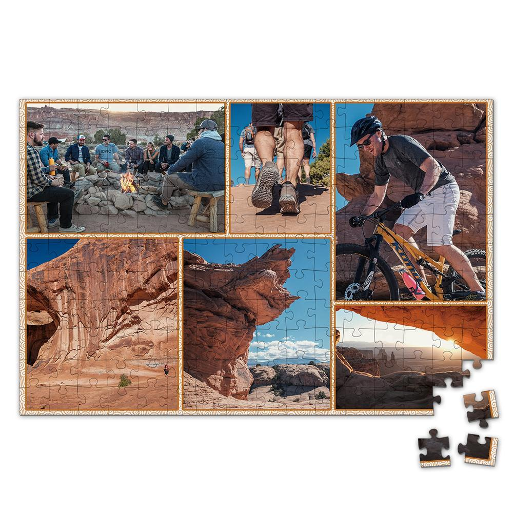 Personalized Photo Jigsaw Puzzle Record Your Trip - 35-500 pieces