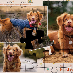 Personalized Photo Jigsaw Puzzle Cute Pet - 35-500 pieces