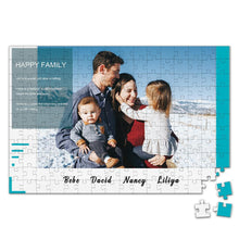 Load image into Gallery viewer, Personalized Photo Jigsaw Puzzle Happy Family - 35-500 pieces