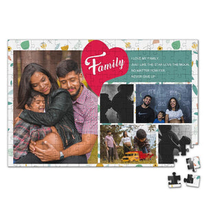 Personalized Photo Jigsaw Puzzle I Love My Family - 35-500 pieces