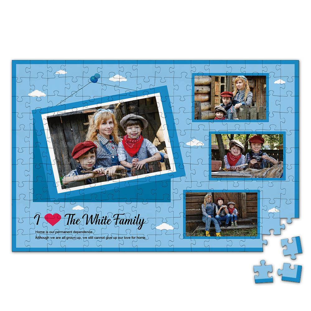 Personalized Photo Jigsaw Puzzle Perfect Gift for Family - 35-500 pieces