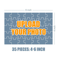 Load image into Gallery viewer, Personalized Photo Jigsaw Puzzle Save The Date Valentine's Day Gift - 35-500 pieces