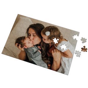Personalized Photo Jigsaw Puzzle I Love Mom Custom Gifts- 35-1000 pieces Puzzles for Adults