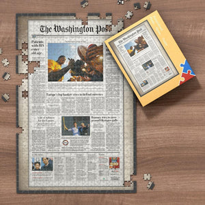 The Wall Street Journal Front Page Jigsaw Puzzle Personalized A Specific Date Newspaper Puzzle Unique Gift