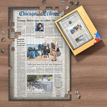 Load image into Gallery viewer, The Wall Street Journal Front Page Jigsaw Puzzle Personalized A Specific Date Newspaper Puzzle Unique Gift