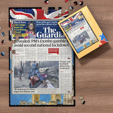 Load image into Gallery viewer, Daily Express Front Page Jigsaw Puzzle Personalized A Specific Date Newspaper Puzzle Unique Gift