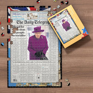 Daily Express Front Page Jigsaw Puzzle Personalized A Specific Date Newspaper Puzzle Unique Gift