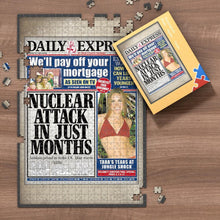 Load image into Gallery viewer, The Guardian Front Page Jigsaw Puzzle Personalized Personalized A Specific Date Newspaper Puzzle Unique Gift