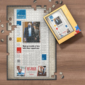 The Province Front Page Jigsaw Puzzle Personalized A Specific Date Newspaper Puzzle Unique Gift