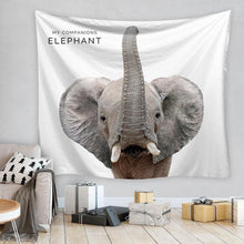 Load image into Gallery viewer, Elephant Tapestry, Wall Decor Hanging Tapestry