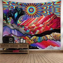 Load image into Gallery viewer, Psychedelic Tapestry Trippy Mushroom Abstract Art, Wall Decor Hanging Tapestry