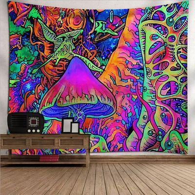 Psychedelic Tapestry Trippy Mushroom Abstract Art, Wall Decor Hanging Tapestry