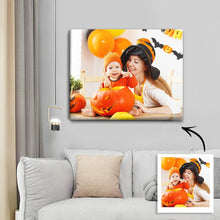 Load image into Gallery viewer, Halloween Custom Family Photo Wall Decor Painting Canvas
