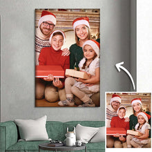 Load image into Gallery viewer, Xmas Gifts for Family Custom Photo Wall Decor Painting Canvas
