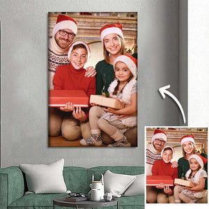 Xmas Gifts for Family Custom Photo Wall Decor Painting Canvas