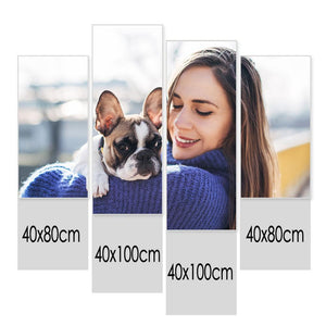 Custom Photo Wall Decor 4 Pcs Contemporary Canvas Print - 40*80cm x 2&40*100cm x 2