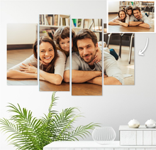 Load image into Gallery viewer, Custom Photo Wall Art 4 pcs Contemporary Canvas Print Wall Art For Her