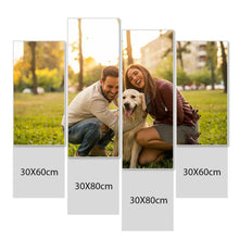 Load image into Gallery viewer, Custom Photo Wall Decor 4 Pcs Canvas Print For Pet - 30*60cm x 2&30*80cm x 2