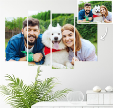 Load image into Gallery viewer, Custom Photo Wall Art 4 pcs Contemporary Canvas Print Wall Art