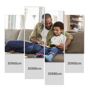 Custom Photo Wall Art 4 pcs Contemporary Canvas Print Wall Art