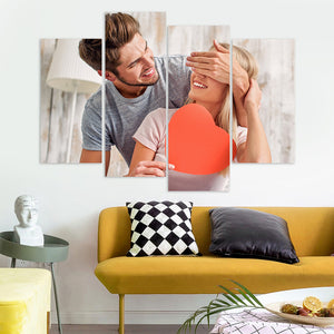 Custom Photo Wall Art 4 pcs Contemporary Canvas Print Wall Art For Her