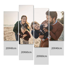 Load image into Gallery viewer, Custom Photo Wall Art 4 pcs Contemporary Canvas Print Wall Art For Family