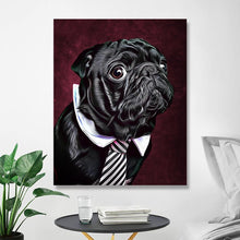Load image into Gallery viewer, Custom Pet Portraits Oil Painting 16*20in - Crimson