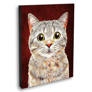 Custom Pet Portraits Oil Painting 16*20in - Crimson