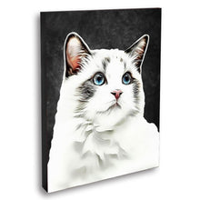 Load image into Gallery viewer, Custom Pet Portraits Oil Painting 16*20in - Slate