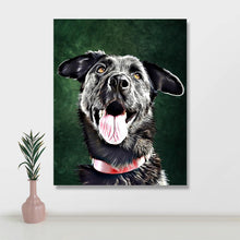 Load image into Gallery viewer, Custom Pet Portraits Oil Painting 8*10in - Crimson