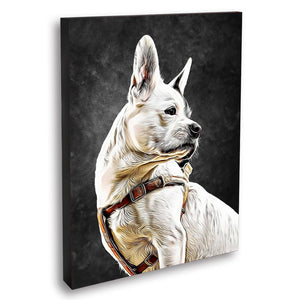 Custom Pet Portraits Oil Painting 8*10in - Slate